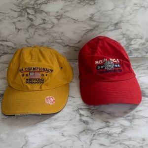 Vintage PGA baseball caps lot of two
